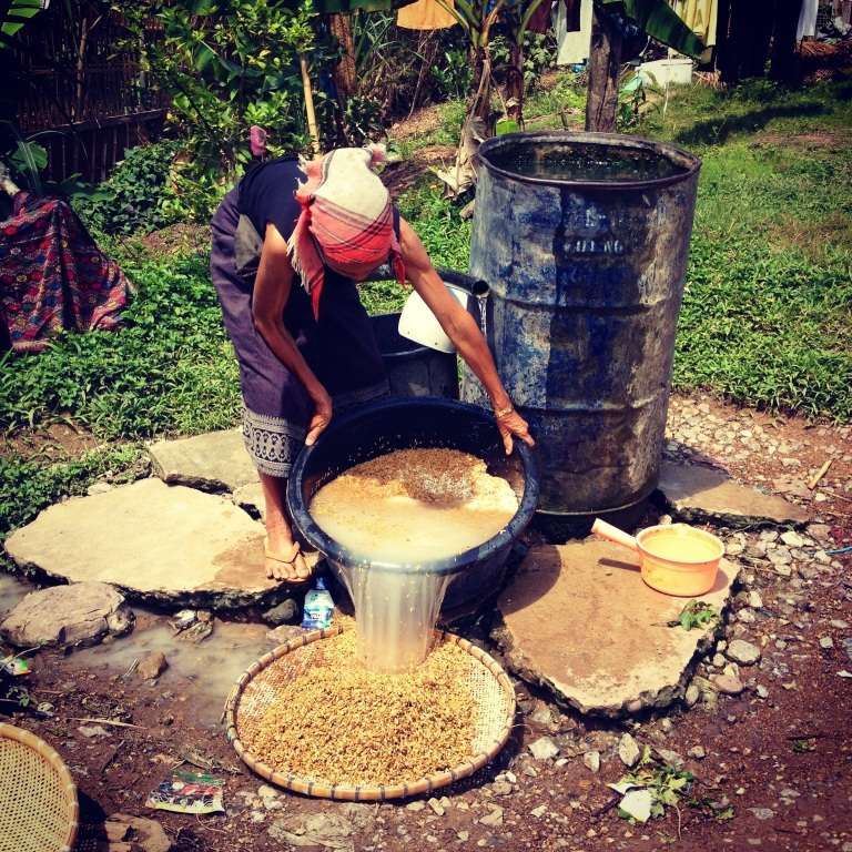 Lao Lao whiskey making